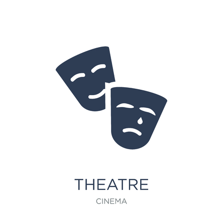 Theatre icon. Trendy flat vector Theatre icon on white background from Cinema collection, vector illustration can be use for web and mobile, eps10 Illustration