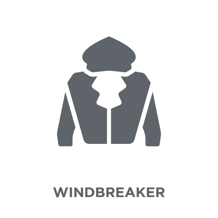 windbreaker icon. windbreaker design concept from Windbreaker collection. Simple element vector illustration on white background. Archivio Fotografico - 112000763