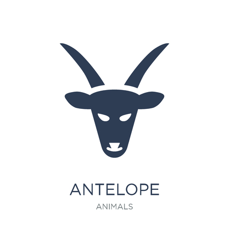 Antelope icon. Trendy flat vector Antelope icon on white background from animals collection, vector illustration can be use for web and mobile, eps10