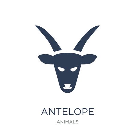 Icône d'antilope. Icône antilope vecteur plat sur fond blanc de la collection d'animaux, illustration vectorielle peut être utilisé pour le web et mobile, eps10