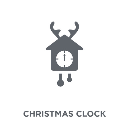 christmas clock icon. christmas clock design concept from Christmas collection. Simple element vector illustration on white background.