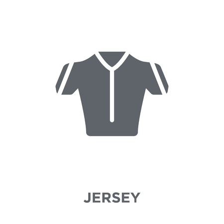 Jersey icon. Jersey design concept from Clothes collection. Simple element vector illustration on white background.