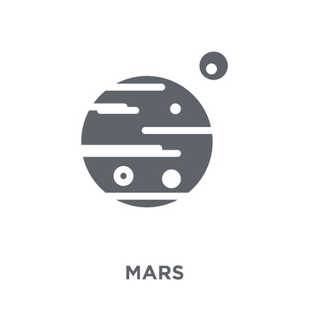 Mars icon. Mars design concept from collection. Simple element vector illustration on white background. Ilustracja
