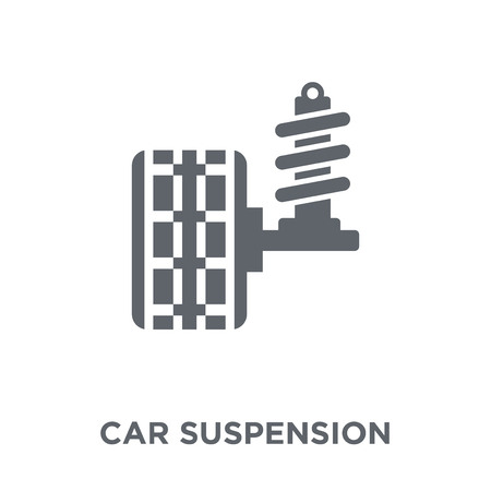 car suspension icon. car suspension design concept from Car parts collection. Simple element vector illustration on white background.