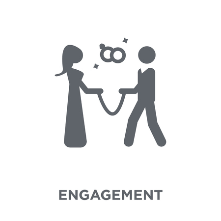 Engagement icon. Engagement design concept from Wedding and love collection. Simple element vector illustration on white background.