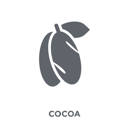 Cocoa icon. Cocoa design concept from Christmas collection. Simple element vector illustration on white background.