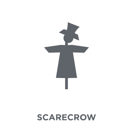 Scarecrow icon. Scarecrow design concept from Agriculture, Farming and Gardening collection. Simple element vector illustration on white background. Ilustrace