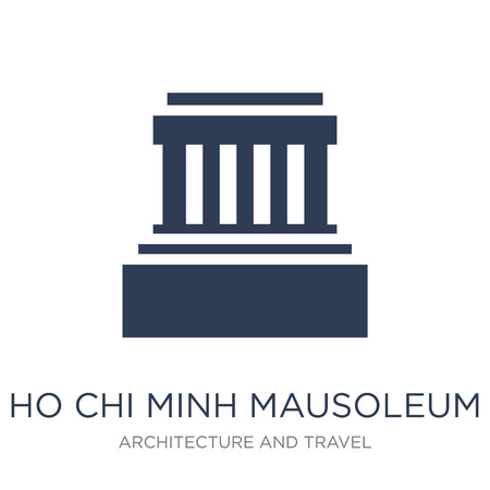 Ho chi minh mausoleum icon. Trendy flat vector Ho chi minh mausoleum icon on white background from Architecture and Travel collection, vector illustration can be use for web and mobile, eps10 Archivio Fotografico - 112000901