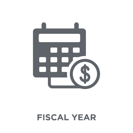 Fiscal year icon. Fiscal year design concept from Fiscal year collection. Simple element vector illustration on white background.