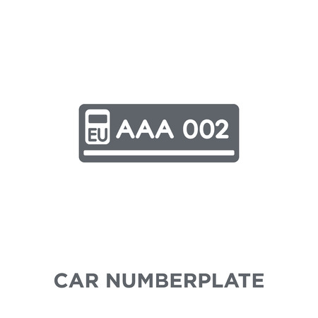 car numberplate icon. car numberplate design concept from Car parts collection. Simple element vector illustration on white background.