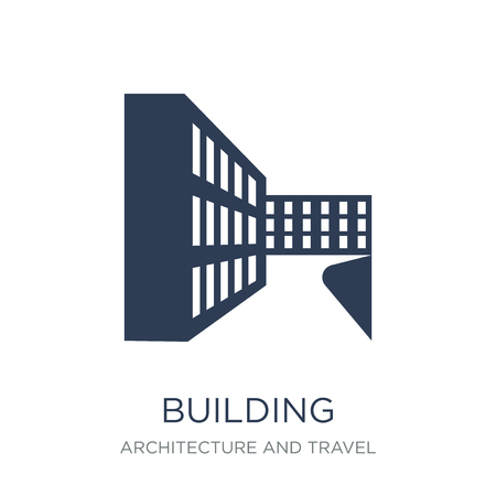 Building icon. Trendy flat vector Building icon on white background from Architecture and Travel collection, vector illustration can be use for web and mobile, eps10 Ilustração