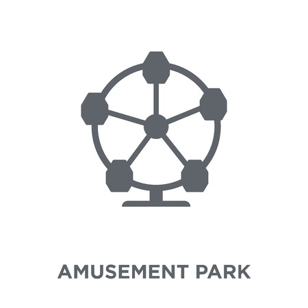 Amusement park icon. Amusement park design concept from Circus collection. Simple element vector illustration on white background.