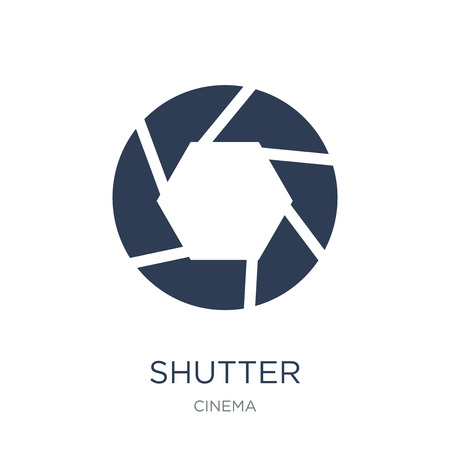 Shutter icon. Trendy flat vector Shutter icon on white background from Cinema collection, vector illustration can be use for web and mobile, eps10
