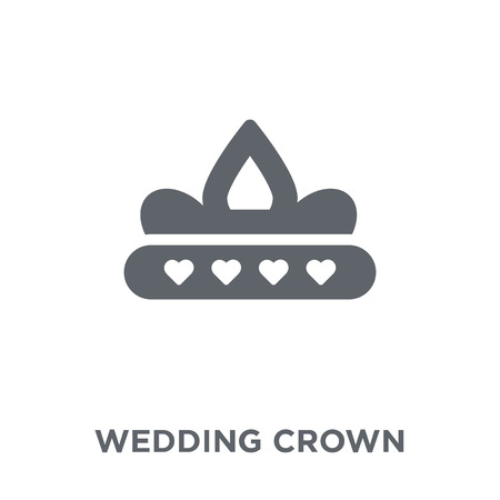 wedding Crown icon. wedding Crown design concept from Wedding and love collection. Simple element vector illustration on white background. Archivio Fotografico - 112000979