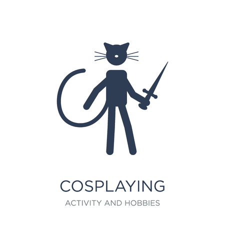 Cosplaying icon. Trendy flat vector Cosplaying icon on white background from Activity and Hobbies collection, vector illustration can be use for web and mobile, eps10