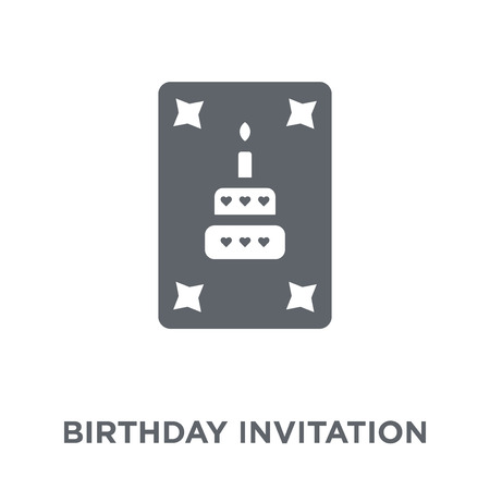 Birthday invitation icon. Birthday invitation design concept from Birthday and Party collection. Simple element vector illustration on white background.