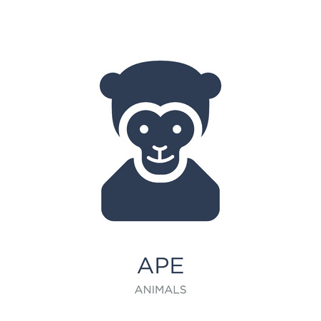 Ape icon. Trendy flat vector Ape icon on white background from animals collection, vector illustration can be use for web and mobile, eps10