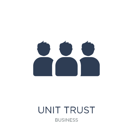 Unit trust icon. Trendy flat vector Unit trust icon on white background from business collection, vector illustration can be use for web and mobile, eps10 Vector Illustration