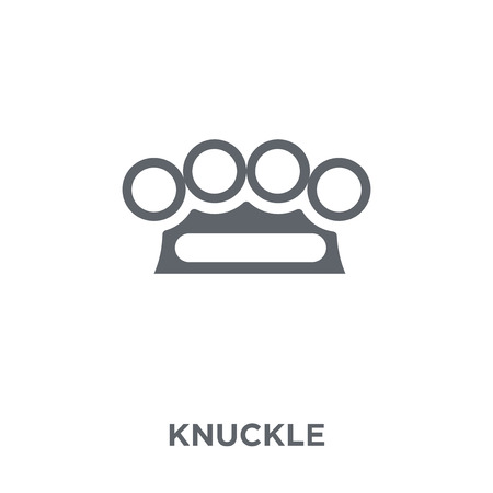 Knuckle icon. Knuckle design concept from Army collection. Simple element vector illustration on white background.