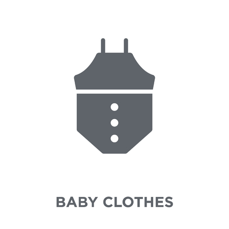 baby clothes icon. baby clothes design concept from  collection. Simple element vector illustration on white background.