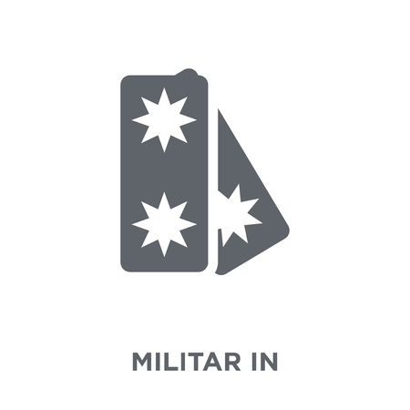 Militar Insignia icon. Militar Insignia design concept from Army collection. Simple element vector illustration on white background.