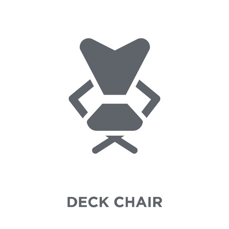 Deck chair icon. Deck chair design concept from Camping collection. Simple element vector illustration on white background.