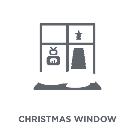 Christmas window icon. Christmas window design concept from Christmas collection. Simple element vector illustration on white background.