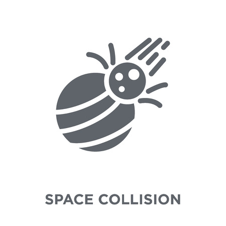 Space Collision icon. Space Collision design concept from Astronomy collection. Simple element vector illustration on white background.