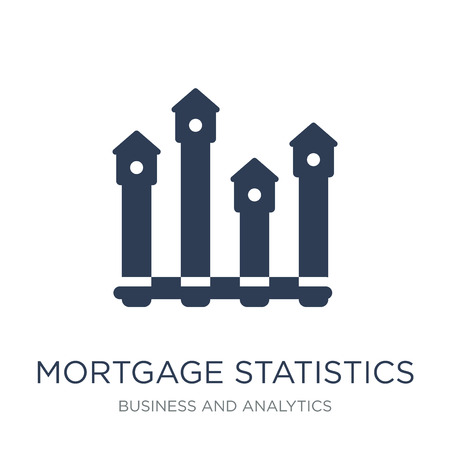 Mortgage statistics icon. Trendy flat vector Mortgage statistics icon on white background from Business and analytics collection, vector illustration can be use for web and mobile, eps10