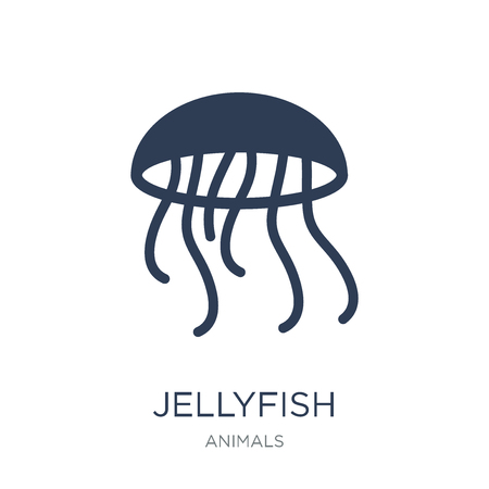 Jellyfish icon. Trendy flat vector Jellyfish icon on white background from animals collection, vector illustration can be use for web and mobile, eps10