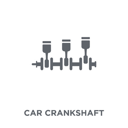 car crankshaft icon. car crankshaft design concept from Car parts collection. Simple element vector illustration on white background.