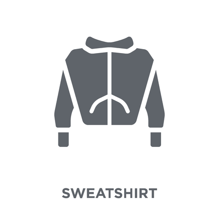 Sweatshirt icon. Sweatshirt design concept from Clothes collection. Simple element vector illustration on white background. Archivio Fotografico - 112001108