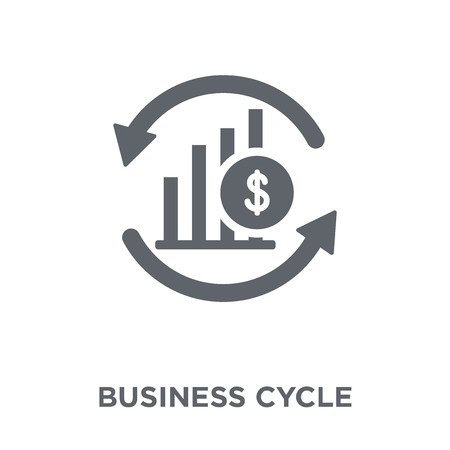 Business cycle icon. Business cycle design concept from Business cycle collection. Simple element vector illustration on white background.