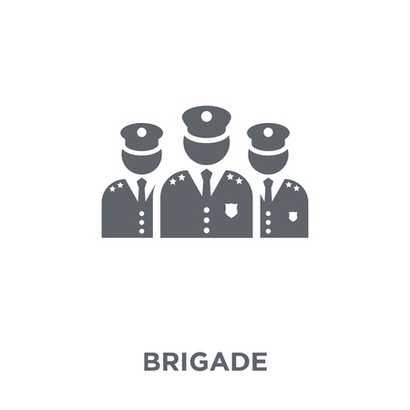brigade icon. brigade design concept from Army collection. Simple element vector illustration on white background. Stock Illustratie
