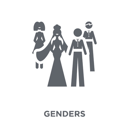 Genders icon. Genders design concept from Wedding and love collection. Simple element vector illustration on white background.