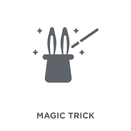 Magic trick icon. Magic trick design concept from Circus collection. Simple element vector illustration on white background. Foto de archivo - 112001112