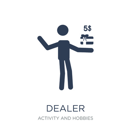 Dealer icon. Trendy flat vector Dealer icon on white background from Activity and Hobbies collection, vector illustration can be use for web and mobile, eps10