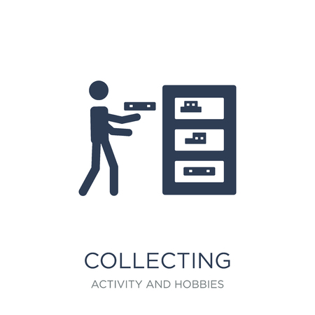 Collecting icon. Trendy flat vector Collecting icon on white background from Activity and Hobbies collection, vector illustration can be use for web and mobile, eps10
