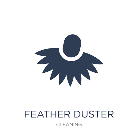 Feather duster icon. Trendy flat vector Feather duster icon on white background from Cleaning collection, vector illustration can be use for web and mobile, eps10 Ilustração
