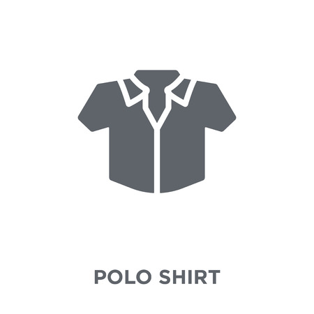 Polo Shirt icon. Polo Shirt design concept from Clothes collection. Simple element vector illustration on white background.  イラスト・ベクター素材