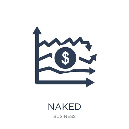Naked short-selling icon. Trendy flat vector Naked short-selling icon on white background from Business collection, vector illustration can be use for web and mobile, eps10 일러스트