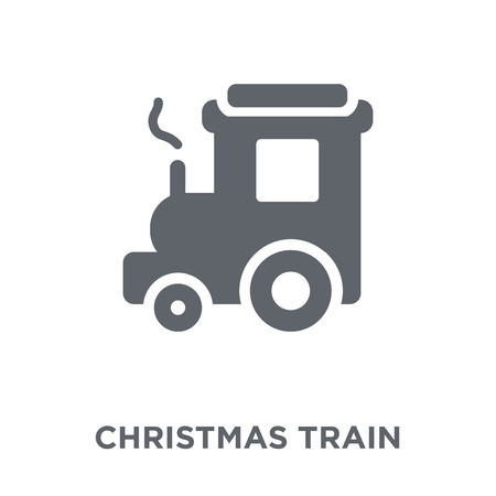 Christmas train icon. Christmas train design concept from Christmas collection. Simple element vector illustration on white background.