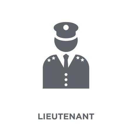 Leutnant-Symbol. Leutnant-Designkonzept aus der Army-Kollektion. Einfache Elementvektorillustration auf weißem Hintergrund. Vektorgrafik