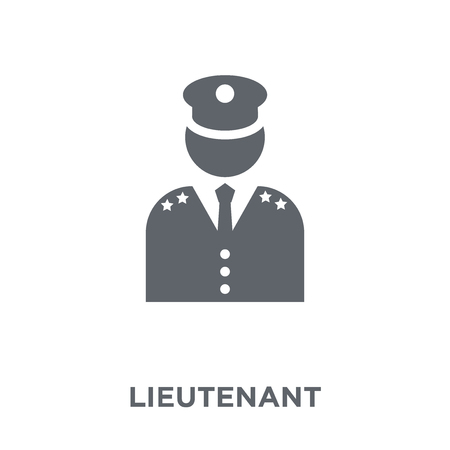 lieutenant icon. lieutenant design concept from Army collection. Simple element vector illustration on white background.