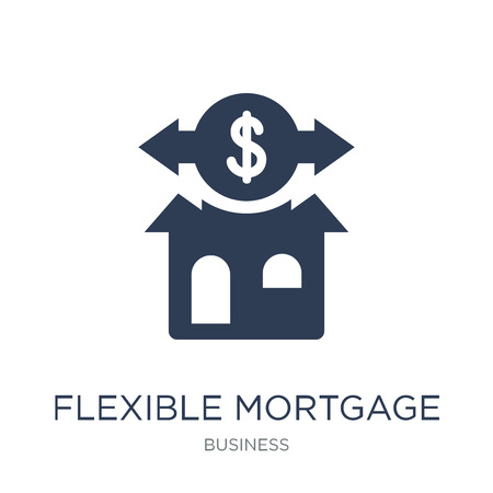 Flexible mortgage icon. Trendy flat vector Flexible mortgage icon on white background from Business collection, vector illustration can be use for web and mobile, eps10 Фото со стока - 112001117