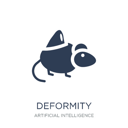 Deformity icon. Trendy flat vector Deformity icon on white background from Artificial Intelligence, Future Technology collection, vector illustration can be use for web and mobile, eps10