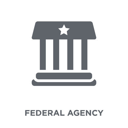 federal agency icon. federal agency design concept from Army collection. Simple element vector illustration on white background. Illustration