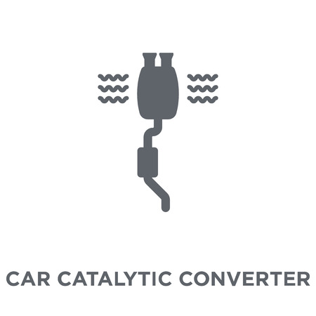 car catalytic converter icon. car catalytic converter design concept from Car parts collection. Simple element vector illustration on white background. Ilustracja