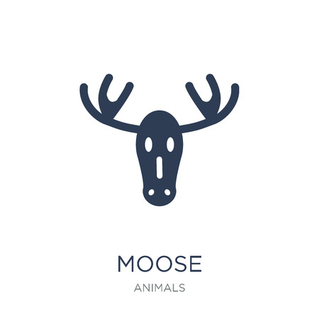 Moose icon. Trendy flat vector Moose icon on white background from animals collection, vector illustration can be use for web and mobile, eps10