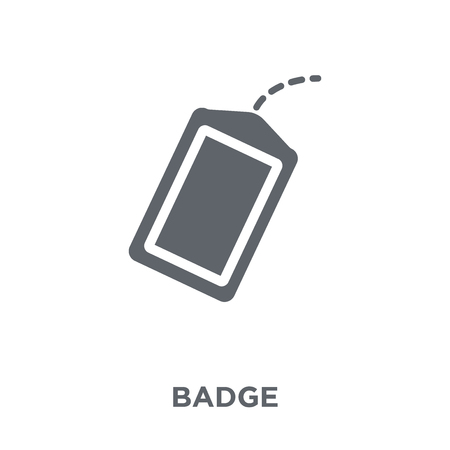 Badge icon. Badge design concept from Army collection. Simple element vector illustration on white background.